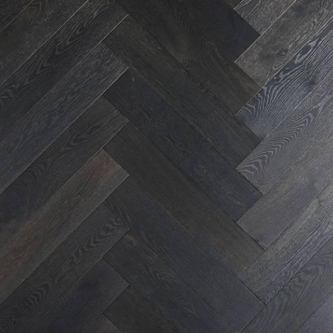 Barral Herringbone Piso en Plum DuChateau Ingenieria Roble Negro