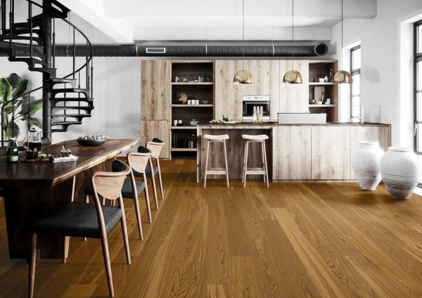 Piso de Madera Amber Oak en Sala VistaParquet